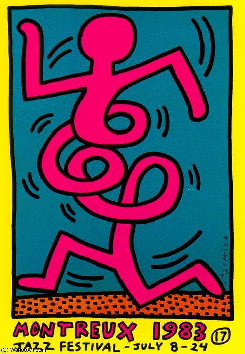 famous painting sem título 235   of Keith Haring