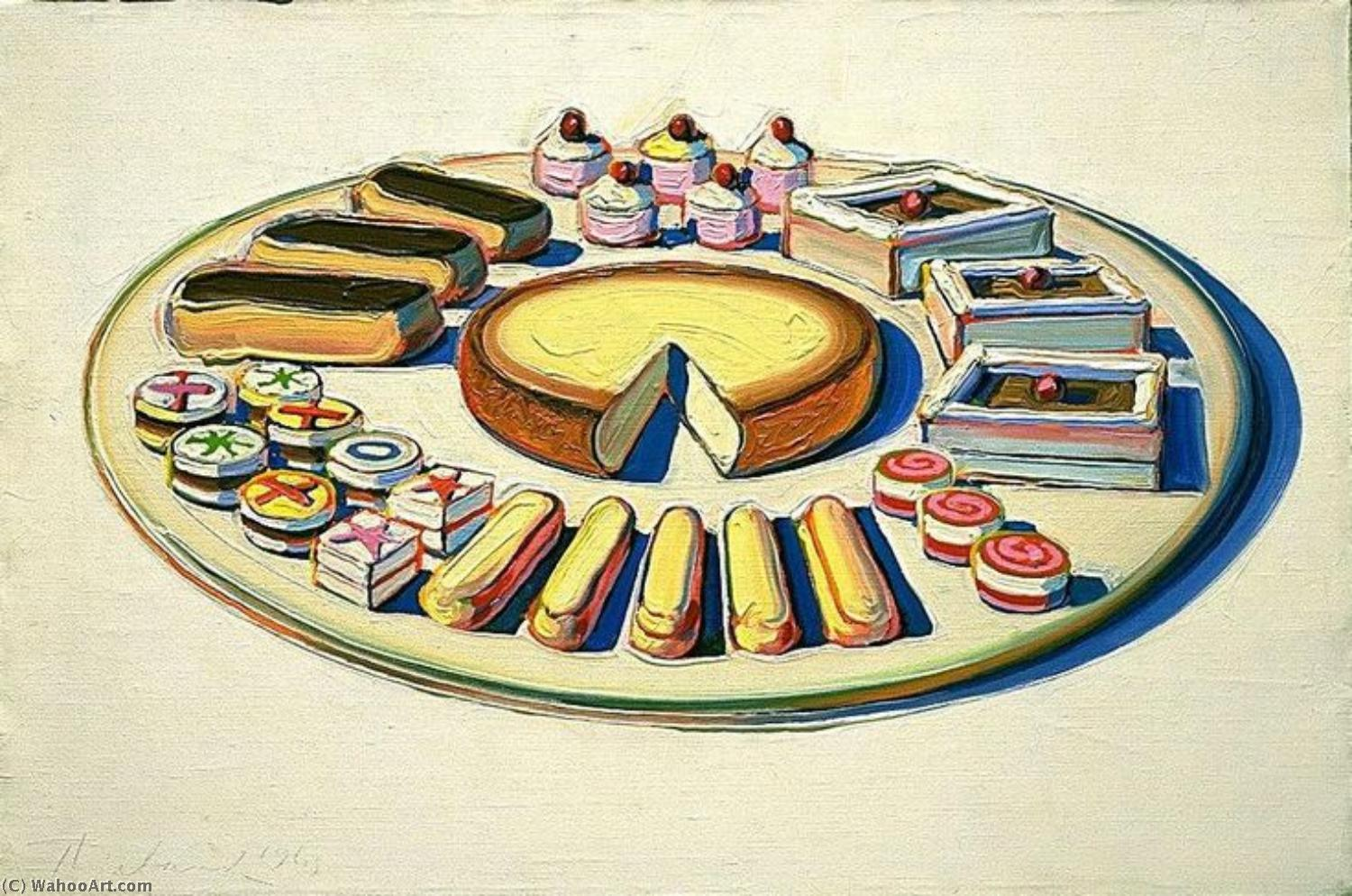 | arte pop por Wayne Thiebaud | Most-Famous-Paintings.com