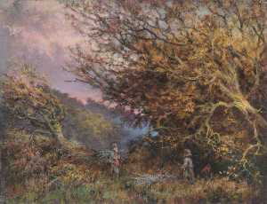 William Henry Hope - Um outono tarde , Shirley , Surrey