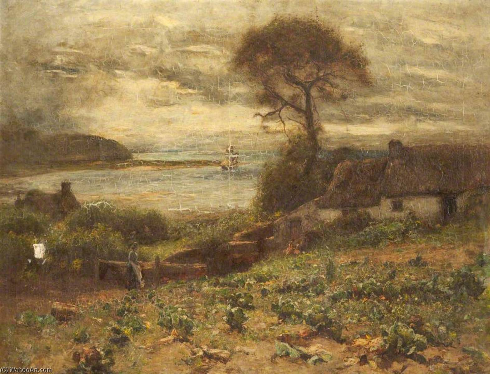 famous painting o Fisherman's Casinha , Deganwy of Joshua Anderson Hague